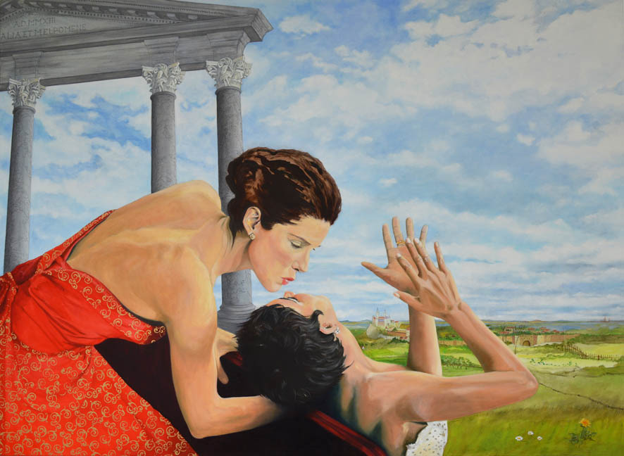 Thalia und Melpomene | Acryl- und Ölfarbe auf Leinwand | 130 × 180 cm | 2014