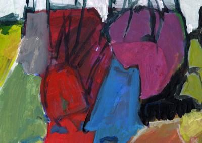 Acrylfarbe auf Holz | 22 × 23 cm | 1997